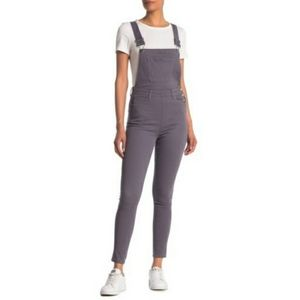 NWT We Wore What Grey High Rise Slim Overalls